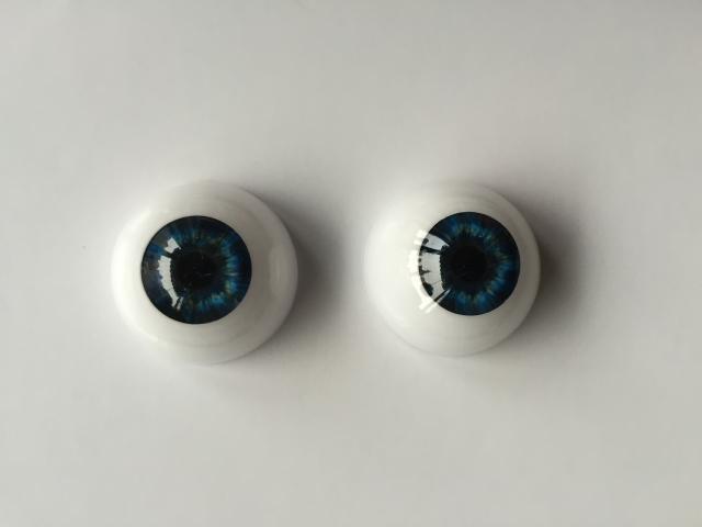 Reborn Baby Doll Eyes Dark Blue 20mm Half Round Acrylic Accessories 20mm 1 Pair@