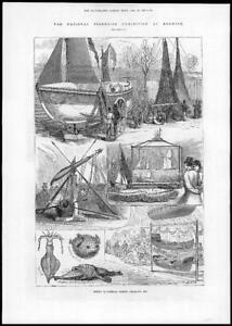 1881-Antique-Print-NORFOLK-NORWICH-National-Fisheries-Exhibition-Lifeboat-211