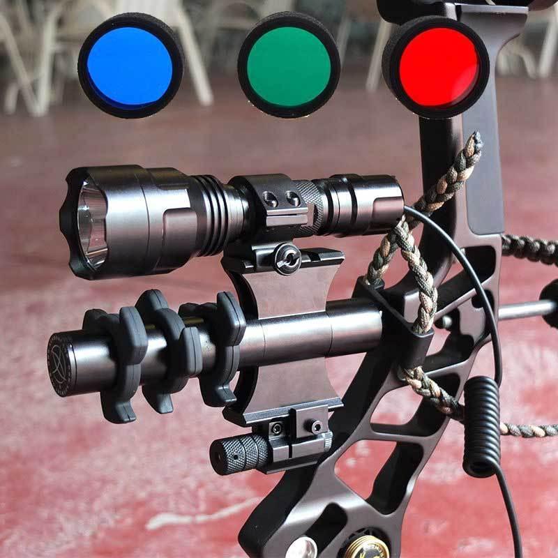 Estabilizador De Arco Compuesto Arquería 1200 LM Táctico Linterna rojo Dot Laser Amortiguador