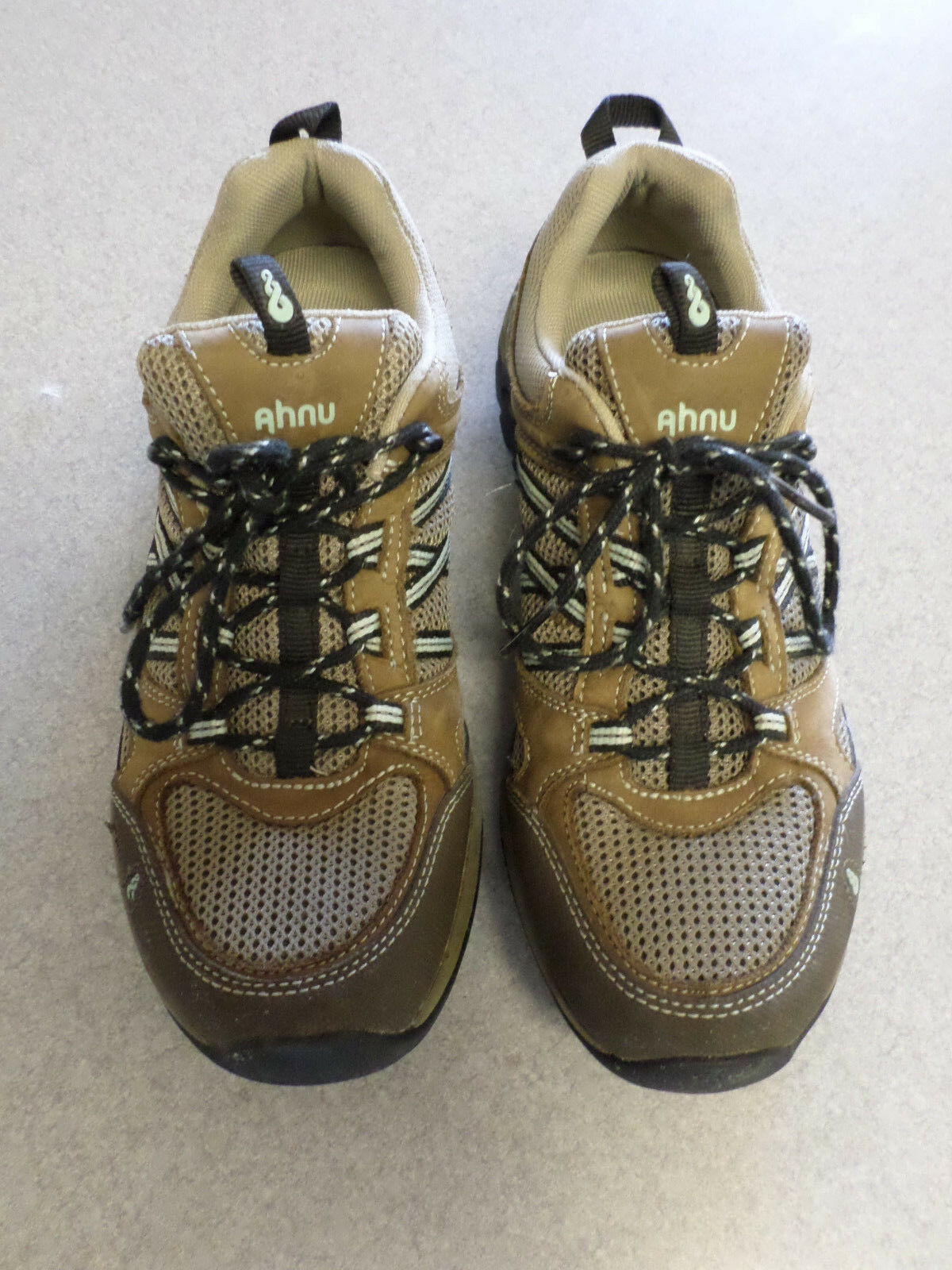 Ahnu brown leather and mesh hiking shoes Women's 8.5 (eur 39.5)