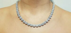 Tennis-Necklace-Earrings-Rhodium-Bridal-Bracelet-set-Swarovski-Inspired-3pc-UK