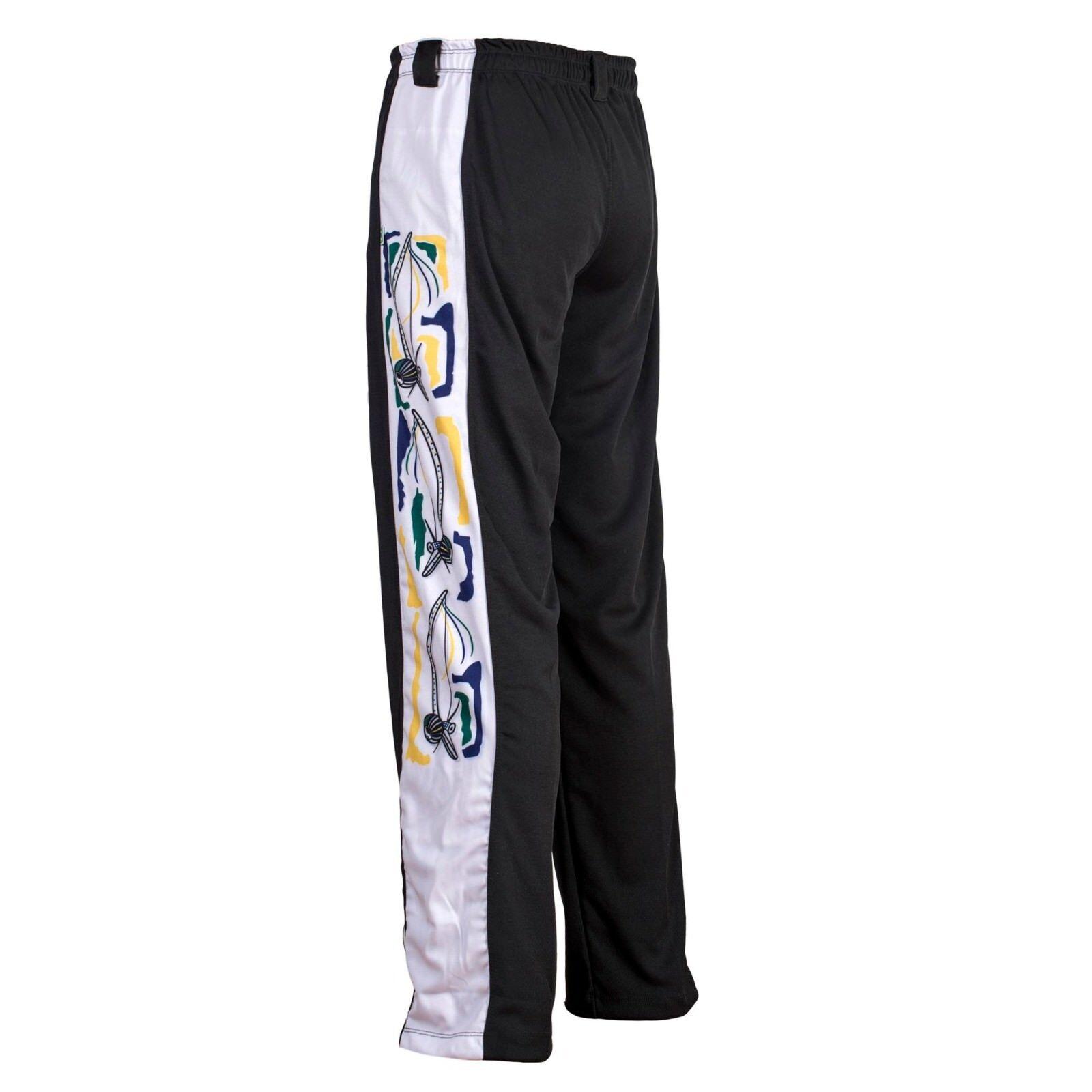 Schwarz Weiß Berimbau Brasilien Hosen Capoeira Capoeira Capoeira Abada Elastisch Kampfhosen 326eef