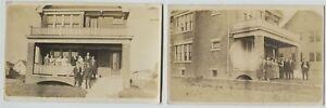 2-1910-Era-Milwaukee-Wisconsin-House-Joe-Klausner-Home-Real-Photo-Postcard-RPPC