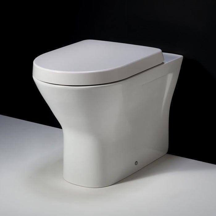 Rak Resort estándar sin montura WC A parojo Inodoro Asiento Pan incluso Cierre Suave