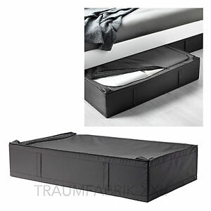 Détails Sur Ikea Skubb Sac Organisateur Boîte De Conservation Sommier Rangement Noir Neuf