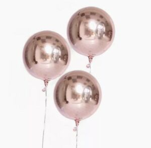 16-034-Orbz-Rose-Gold-Foil-Mylar-Balloons-3-Count-Anagram-Free-Shipping