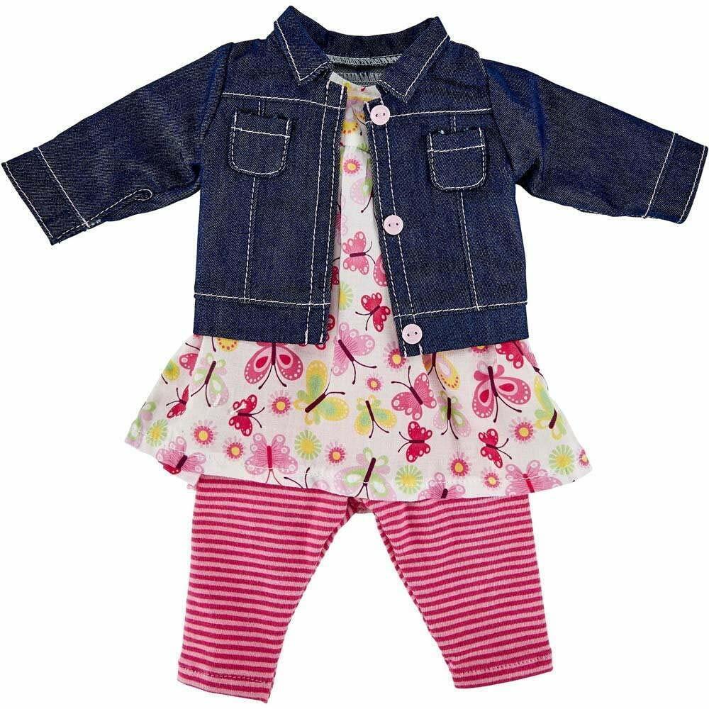 Käthe Kruse 42808 Kindergarten Sommer Outfit Puppen Kleidung Gr.39 41  ...