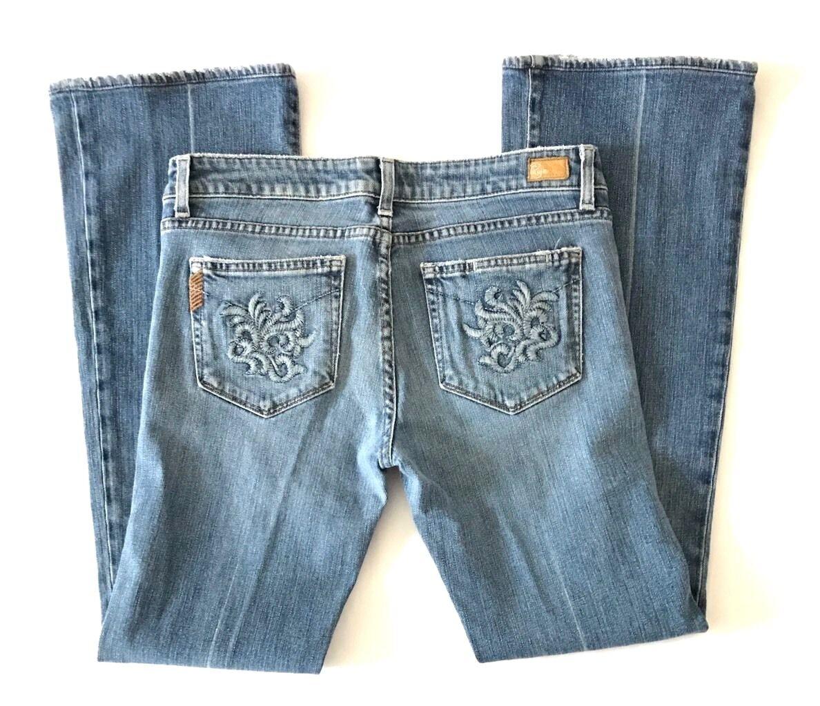 Paige Jeans Womens Size 30 Laurel Canyon Straight Boot Cut Cotton Denim Pants