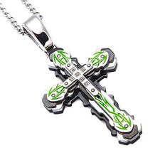 """Lizard Lick Towing Stainless Steel Cross Pendant Necklace 30"""" Chain Lick Life"""