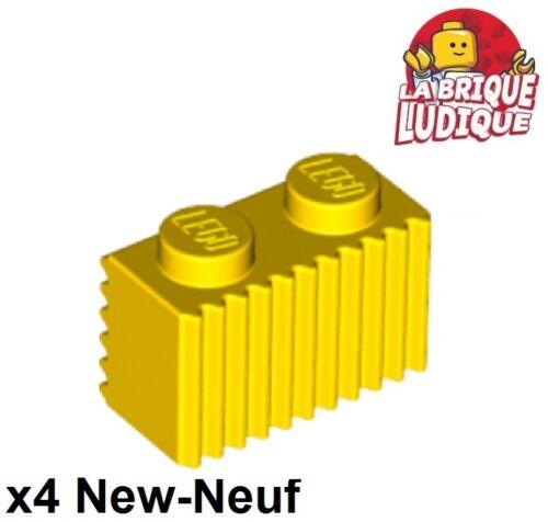 Lego 4x Mattoncini Mattoni per volta 1x2 Griglia gialla//giallo 2877 NUOVO