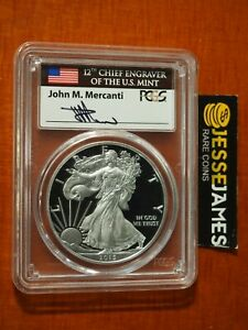 2015-W-PROOF-SILVER-EAGLE-PCGS-PR70-DCAM-RARE-FLAG-MERCANTI-SIGNED-LABEL