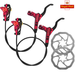 MTB-Bicycle-Hydraulic-Disc-Brakes-Calipers-Bike-Front-amp-Rear-with-160-180mm-Rotors