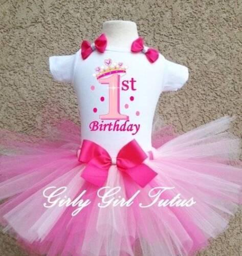 Princess Birthday Crown 1st Birthday Tutu Outfit Party Dress Set
