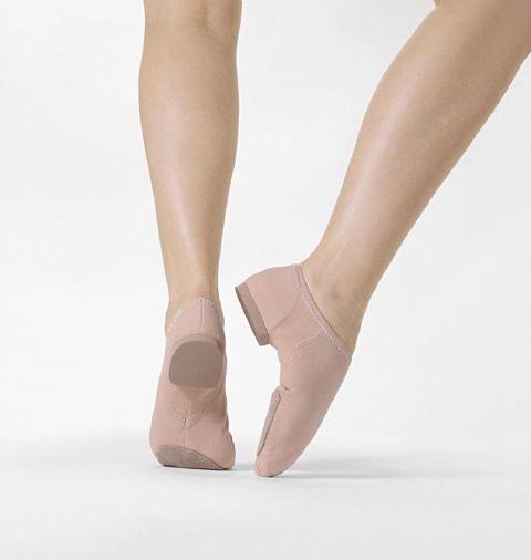 So Danca JZE75 Nude(Pink) Split Sole Canvas Jazz Shoe Low Ankle Cut New in