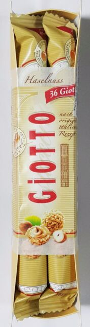 Ferrero GIOTTO Chocolate Hazelnut Filled Balls 1 Pack (4 Bars) USA Free Shipping