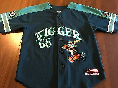 DISNEY TIGGER # 68 BASEBALL JERSEY BY DISNEYLAND SIZE YOUTH MEDIUM