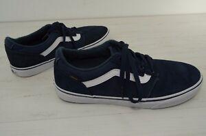 257d5b179b3655 Image is loading Vans-Shoes-Navy-Blue-Suede-Mens-size-10-