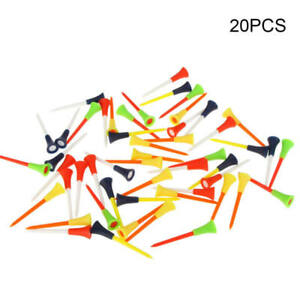 20pcs-Multi-Color-Plastic-Golf-Tees-83mm-Durable-rubber-cushion-top-Golf-WUU