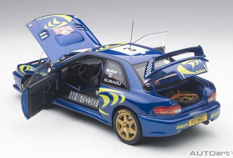 Autoart Subaru Impreza WRC 1997 3 Mcrae   Grist Rally Monte Carlo 0.1cm Stock