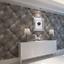 3D-Leather-Effect-Cushioned-Headboard-Wallpaper-Roll-Wall-Decor-Vinyl-Dark-Grey thumbnail 1