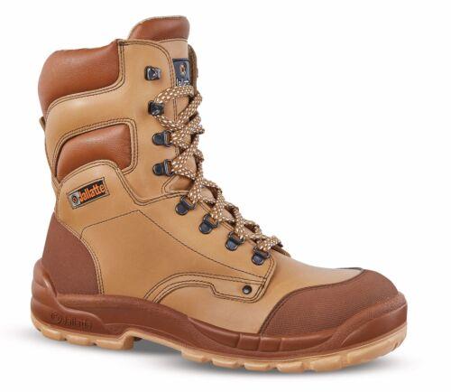 Jallatte Jalborg J0701 Hi Mens Tan Brown Toe Cap Midsole Safety Work Lace Boots