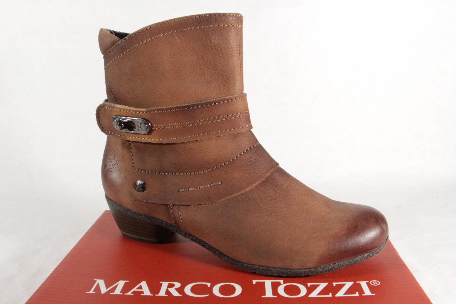Marco Tozzi 25356 señora botas botines marrón botas de cuero genuino marrón botines nuevo 77e83d