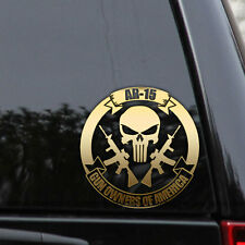 AR-15 PUNISHER Decal Sticker 2ND AMENDMENT GUN GOA America Window Laptop Hunting