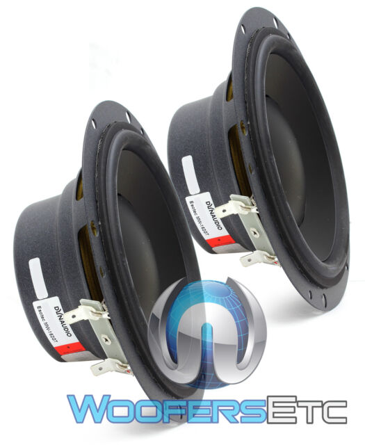 "2 DYNAUDIO ESOTEC MW162GT 6.5"" 120W RMS 4-OHM MID-RANGE CAR AUDIO SPEAKERS NEW"