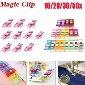 10-50Pcs-Plastic-Sewing-Clips-Clamp-for-Craft-Quilting-Sewing-Knitting-Crochet