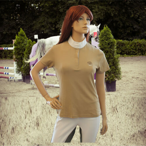 beige Turnierbekleidung  6027 Pikeur Damen Turnier Shirt Pikeur Turnier Bluse