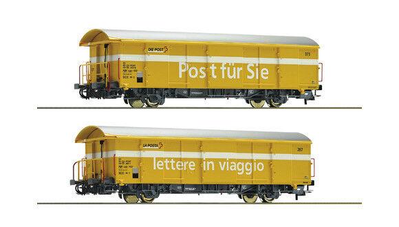 Roco 76201, set 2tlg. post bienes carro z2, SBB, nuevo y en su embalaje original, h0