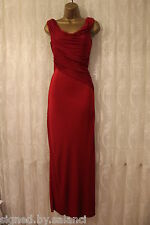 Karen Millen Draped Jersey Grecian Red Maxi Long Gown Party Wedding Dress  8 36