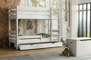 Details zu Etagenbett Hochbett GAT teilbar, inkl. Schublade, Lattenrost,  robustes Holz