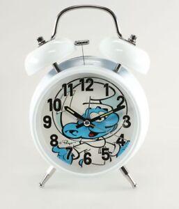 Horlogerie Schtroumpfs (Les) Réveil- Cosmo Schtroumpf Retro lumineux Blanc KMB KDrhmGjv-07211857-143399607