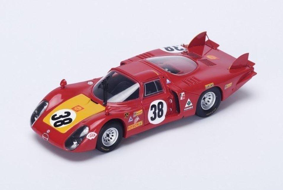 Alfa Romeo 33 2  38 24H Le Mans 1968 C.Facetti S.Dini rouge Spark 1 43 S4367