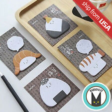 Lot 4 Cute Japan Sushi Onigiri Rice Ball Stationery Sticky Notes Kawaii Memo Pad