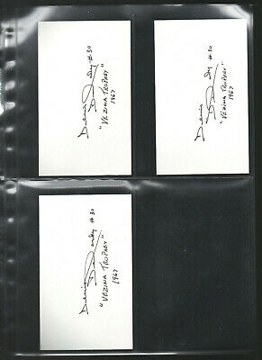 7 Hockey-nhl Denis Dejordy Autograph/auto/hand-signed Index Card 3x5