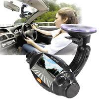 "2.7"" Dual Lens GPS Car DVR Camera Recorder Video Dashboard Vehicle Cam Black"