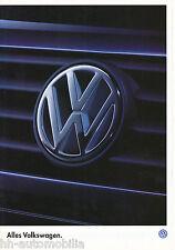 VW Prospekt 1995 7 95 Sharan Passat VR6 Variant Vento Golf Cabrio Polo brochure