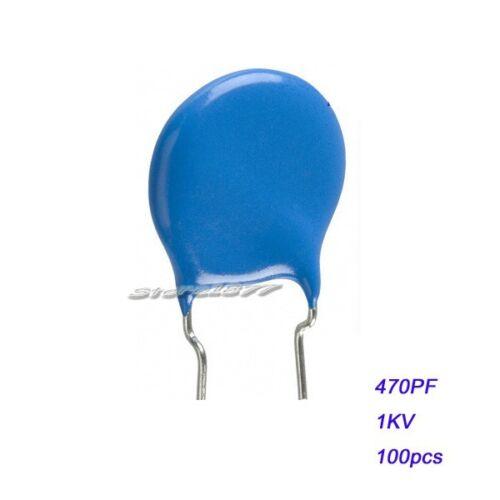 High Voltage Ceramic Disc Capacitors 470pF 100pcs 1000V 1KV