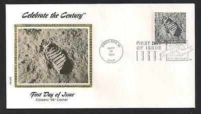 FIRST MAN ON THE MOON APOLLO 11 NEIL ARMSTRONG FOOTPRINT FIRST DAY COVER
