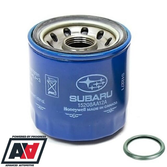 Genuine Subaru Blue Oil Filter & Sump Washer Legacy Outback 15208AA12A  ADV