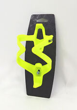 Bicycle water bottle cage yellow plastic 2,5mm 60mm x 75mm x 14,3cm
