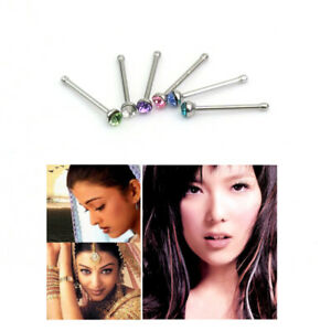 24X-Tiny-Surgical-Steel-Nose-Studs-Ring-Mixed-Rhinestone-Body-Piercing-Jewelry