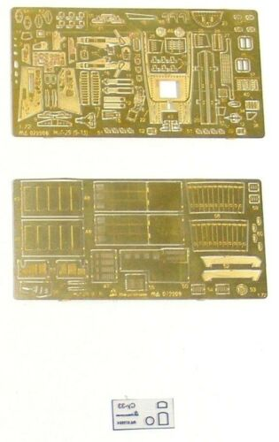 Photo-etched parts. 1:72 MicroDesign #MD072209 Mikoyan MiG-29 9.13 for Zvezda