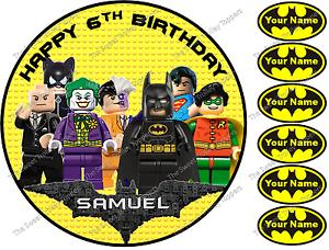 Miraculous Personalised Batman Lego Edible Rice Wafer Paper Birthday Cake Funny Birthday Cards Online Hetedamsfinfo