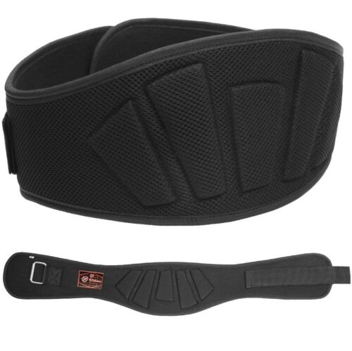 """Weight Lifting Gym Belt Padded Workout NEOPRENE Training Back Support 6/"""" Wide"""