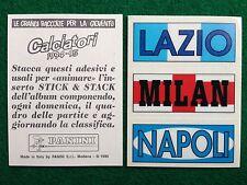 CALCIATORI 1994-95 LAZIO MILAN NAPOLI STICK & STACK Figurina Panini NEW