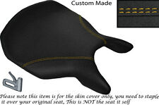 GRIP DESIGN 2 YELLOW DS STITCH CUSTOM FITS DUCATI 999 749 FRONT SEAT COVER