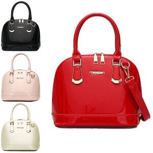 Women-Patent-Leather-Shell-Handbag-Shoulder-Bag-Messenger-Hobo-Satchel-Tote-Bag